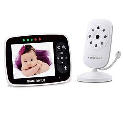 Video Baby Monitor, Baby Monitor Digital Camera with 3.5 inch Large Screen, Infrared Night Visio ...