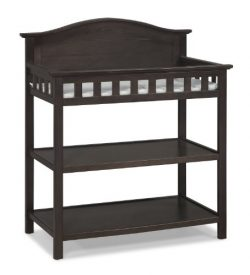 Thomasville Kids Southern Dunes Dressing Table with Pad, Espresso, Changing Table with Water Res ...
