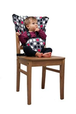 Cozy Cover Easy Seat Portable High Chair (Polka Dot) – Quick, Easy, Convenient Cloth Trave ...