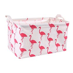 Flamingo Storage Bin Toy Basket Collapsible Box Chest Organizer Water-resistant, Great for Bedro ...