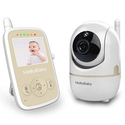 Baby Monitor with Remote Pan-tilt Camera, Infrared Night Mode, Two-Way intercom System, Recharge ...