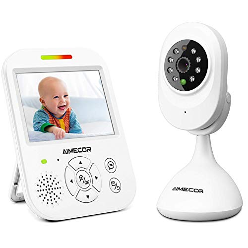 Video Baby Monitor with Camera – 3.5 inch IPS Display,HD Night Vision Camera, 960ft Transm ...