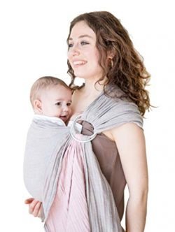 Baby Wrap Carrier Ring Sling-Baby Carrier-Extra Soft Turkish Cotton Muslin Baby Slings Baby Show ...