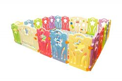 Baby Playpen for Infant and Toddler: 18 Star Panel Plus 2 Free Gates – Portable Play Yard  ...
