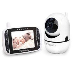 """Baby Monitor with Remote Pan-Tilt-Zoom Camera and 3.2"""" LCD Screen, Infrared Night Vision,  ..."""