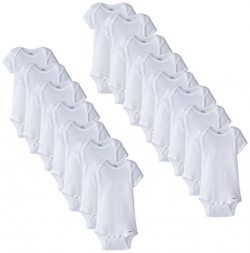 Gerber Unisex-Baby Newborn 15 Piece Onesies Bundle In Sizes, White, Assorted Months