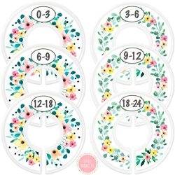 Baby Closet Dividers – Rustic Floral Nursery Closet Dividers for Baby Clothes – Divi ...
