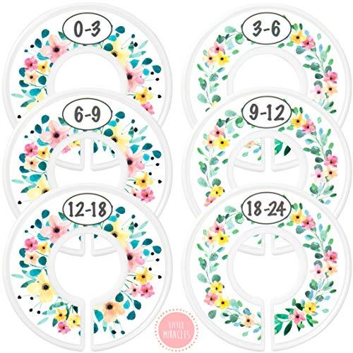 Baby Closet Dividers – Rustic Floral Nursery Closet Dividers for Baby Clothes – Divi ...