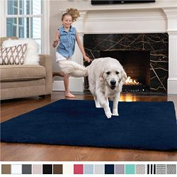 GORILLA GRIP Original Faux-Chinchilla Nursery Area Rug, (3′ x 5′) Super Soft & C ...