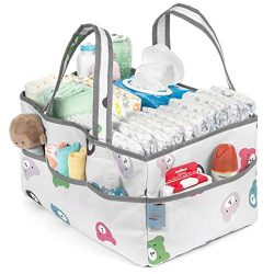Baby Diaper Caddy Organizer | Nursery Storage Bin and Car Organizer for Diapers,Toys,Wipes,Chang ...