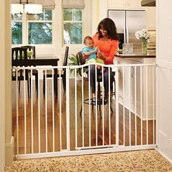 North States 46.8″ Wide Tall & Wide Portico Arch Baby Gate: Decorative heavy-duty meta ...