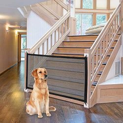 Magic Safety Enclosure: NWK Magic Gate Works as Both an Infant gate and a pet gate to Providing  ...