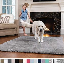 GORILLA GRIP Original Faux-Chinchilla Nursery Area Rug, (5′ x 7′) Super Soft and Coz ...
