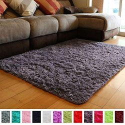 PAGISOFE Soft Fluffy Shaggy Area Shag Rugs for Bedroom Living Room Modern Cute Plush Fur Rug for ...