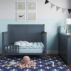 Baby Relax Baby Relax Miles Toddler Guardrail, Graphite Blue, Graphite Blue