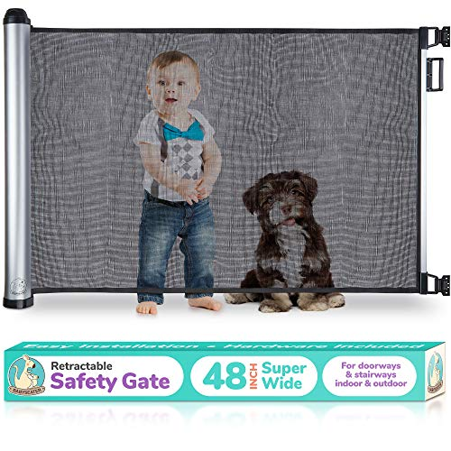 2019 New Retractable Baby Gate – Extra Wide Baby Safety Gate and Pet Gate for Stairs, Door ...