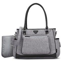Diaper Tote Bag Organizer,BRINCH Stylish Multi-Function Large Capacity Shoulder Diaper Bag Baby  ...