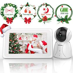 Video Baby Monitor, 7-inch Large Color LCD Screen,  Baby Monitor with Camera Pan-Tilt-Zoom, Infr ...