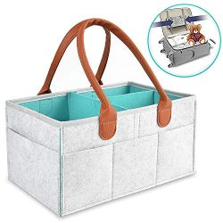 Baby Diaper Caddy Organizer Portable Nursery Diaper Storage Bin for Changing Table Large Car Tra ...