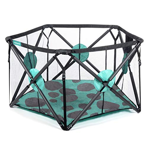 Milliard Playard Portable Playpen with Extra Cushioning for Safety, for Travel, Indoor and Outdo ...