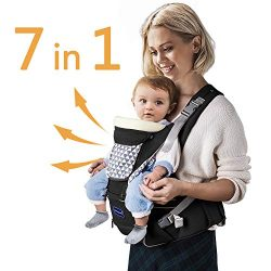 Windsleeping Ergonomic Baby Carrier with Hip Seat 7 Positions to Carry Your Newborns,Infant or T ...