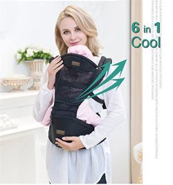Baby Carrier With Hip Seat 6 Position Front Backpack and Kangaroo Adjustable Waistband Easy Brea ...