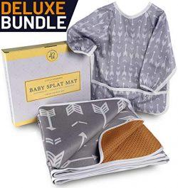 Little Growers Baby Splat Mat for Under High Chair – Spill 'n' Splash Baby Floor Mat and B ...