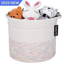 Buddy Pro Baby Toy Basket Wide 17″ X 15″ – Extra Large Woven Storage Basket/La ...