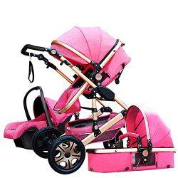 Baby Stroller,Babyfond-JTBS 3 in 1 Folding Baby Carriage Travel System Pram Shockproof Pushchair ...