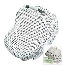 Crocnfrog 6-in-1 Nursing Cover for Breastfeeding, Baby CarSeat Cover, Carseat Canopy, Shopping C ...
