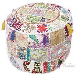 Home Decorative Ottoman, Indian Comfortable Floor Cotton Cushion Ottoman Cover, Indian Vintage O ...