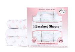 Baby Bassinet Sheet Set – 3 Pack – Keep Baby Happily Sleeping in Cold & Hot Weather w/ ...