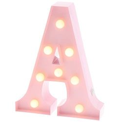 Barnyard Designs Metal Marquee Letter A Light Up Wall Initial Nursery Letter, Home and Event Dec ...