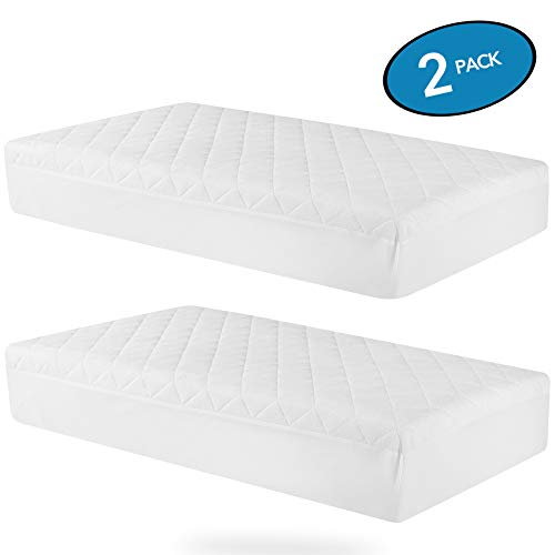 MoMA Waterproof Crib Mattress Cover (Set of 2) – 52×28″ White Crib Mattress Pro ...