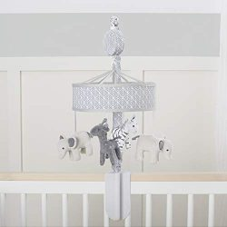 Just Born Little Dreamer Musical Mobile, Grey Elephant and Zebra, One Size