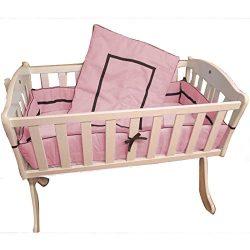 Babykidsbargains Friendship Cradle Bedding, Pink, 15″ x 33″