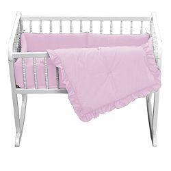 Babydoll Primary s Cradle Bedding, Pink, 18″x36″
