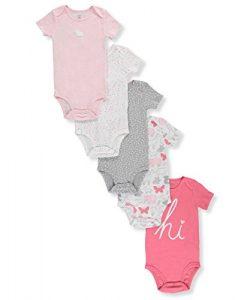 Carter's Baby Girls' 5-Pack Bodysuits Preemie