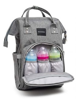Baby Diaper Bag Backpack with Free Changing Pad – Waterproof Maternity Bag Organizer for B ...