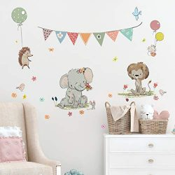 Kids Wall Decals Stickers Nursery Decor Baby Room Decor Nursery Wall Stickers Safari Woodland Sc ...