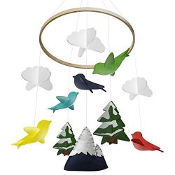 Baby Crib Mobile by Giftsfarm, Woodland Baby Mobile, Crib Mobile for Boys and Girls Nursery Déco ...