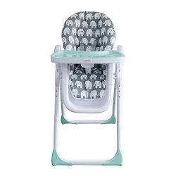 My Babiie USHC8GE Grey Elephants Highchair