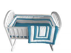 Baby Doll Bedding Modern Hotel Style Cradle Bedding, Aqua