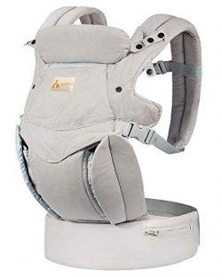 KONPAYDE Baby Carrier with Windproof Cap, Bite Towel, flip 4-in-1 Convertible Carrier, Soft &amp ...