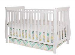 Athena Naomi 4 in 1 Crib with Toddler Rail, White