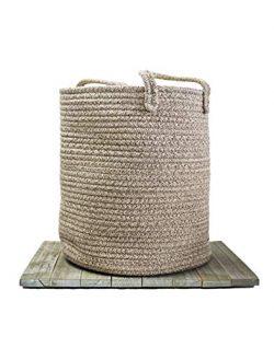 Cotton Rope Baby Basket – Decorative Woodland Nursery Organizer/Woven Baby Basket for Toys ...
