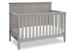 Delta Children Easton 4-in-1 Convertible Baby Crib, Grey