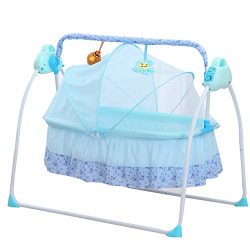 BESTOOL Electric Baby Cradles,Portable Bassinet Cradle Bed Auto Remoter Control Swings Rocking S ...