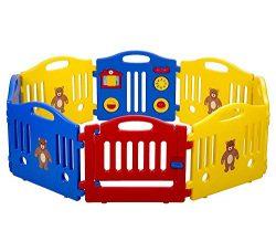 New Baby Playpen Kids 8 Panel Safety Play Center Yard Home Indoor Outdoor Pen (Certified Refurbi ...