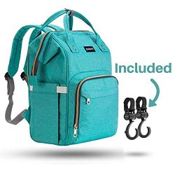 ZUZURO Diaper Bag Baby Bag – Waterproof Backpack w/Large Capacity & Multiple Pockets f ...